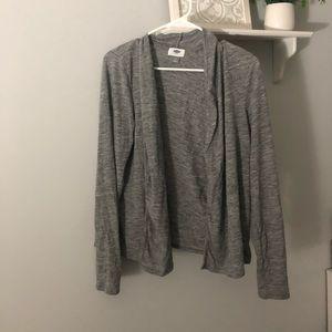 Long sleeve grey cardigan